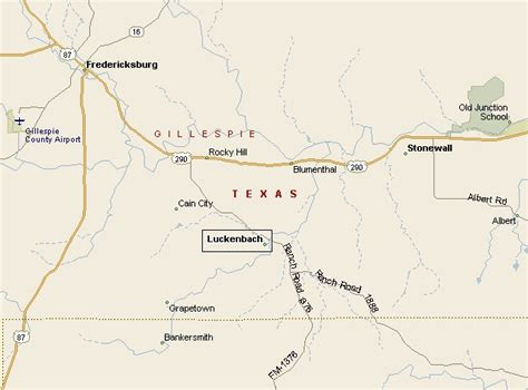 hill country region luckenbach map