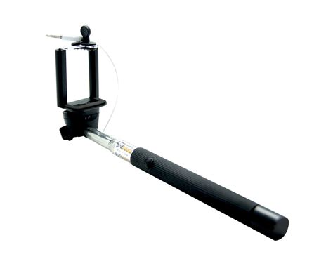 Monopod Selfie buy extendable wired remote shutter handheld selfie stick monopod for iphone samsung black