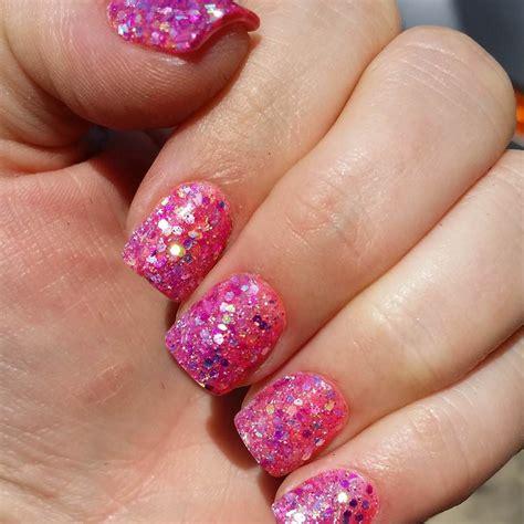 pink glitter acrylic nail designs 25 glitter acrylic nail art designs ideas design