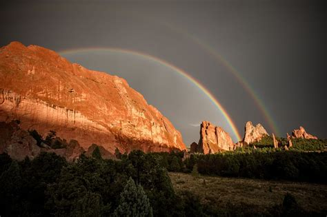 Garden Of The Gods Light Show 50 Inspirational Rainbows Pics