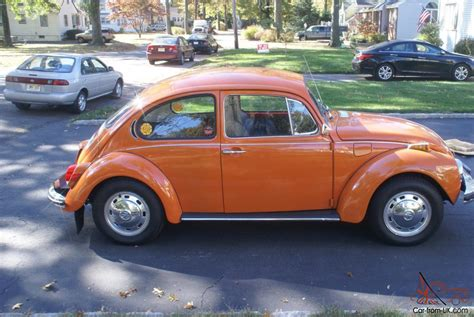 volkswagen orange 1972 volkswagen superbeetle bright orange great condition