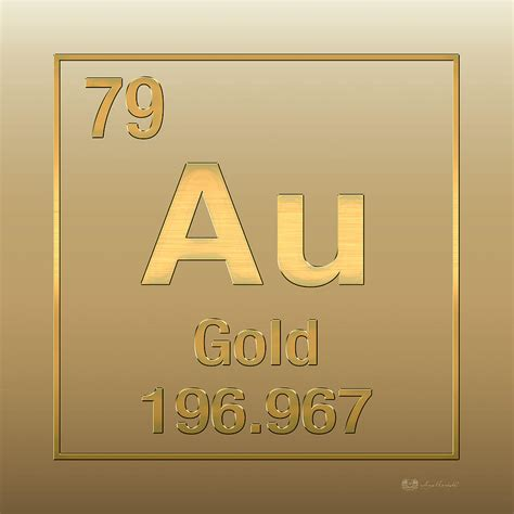 Periodic Table Gold by Periodic Table Of Elements Gold Au Gold On Gold