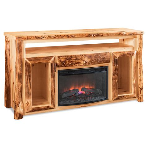 tv cabinet with fireplace 66 quot tv cabinet w fireplace insert fireside log