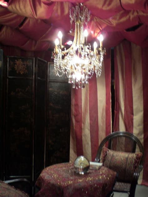 Fortune Teller Room by Carnival On Sideshow Tent And Fortune Telling