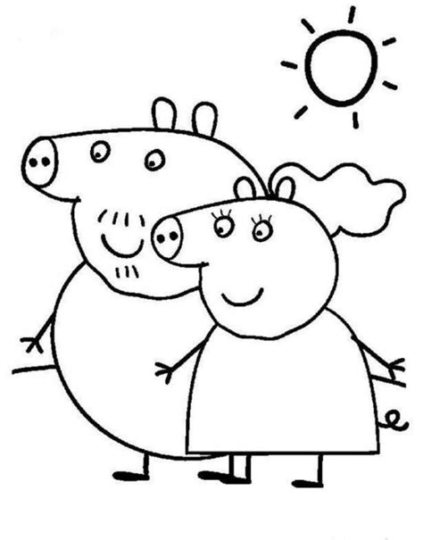 peppa pig mummy coloring pages funny cartoon peppa pig coloring pages womanmate com
