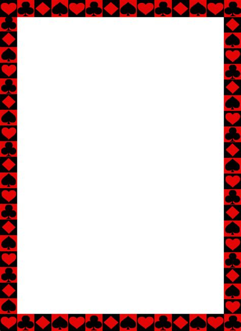 Gift Card Borders - free playing cards images cliparts co