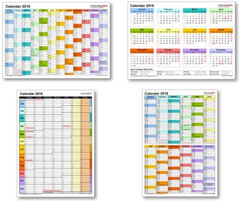 Calendar 2019 Printable Uk Calendar 2019 Uk With Bank Holidays Excel Pdf Word Templates