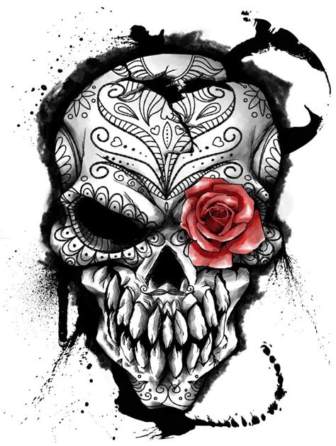 collection of 25 open joker skull head tattoo design
