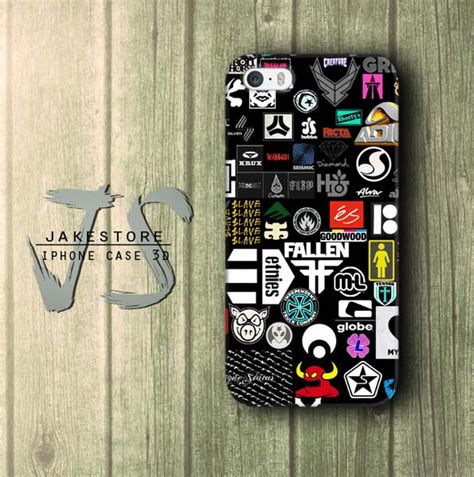 Stiker Casing Hp jual skateboard sticker iphone dc vans casing type 4
