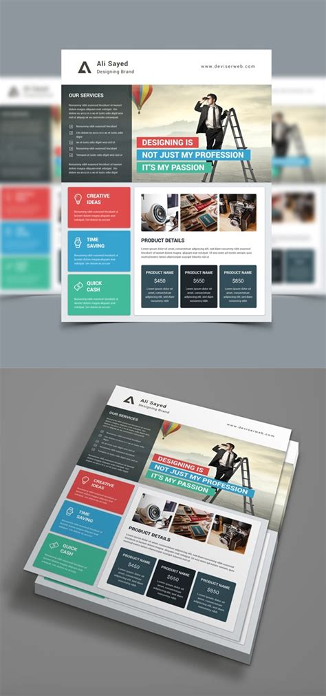 20 Business Flyer Templates With Creative Layout Designs Company Advertisement Template