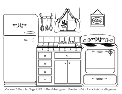 printable coloring pages kitchen a coloring page decorate your own kitchen from lindsay