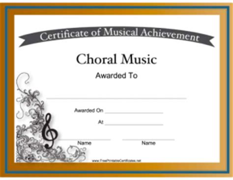 templates for music certificates free printable certificates for graduation music and more