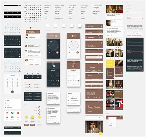 google design ui kit material design ui kits