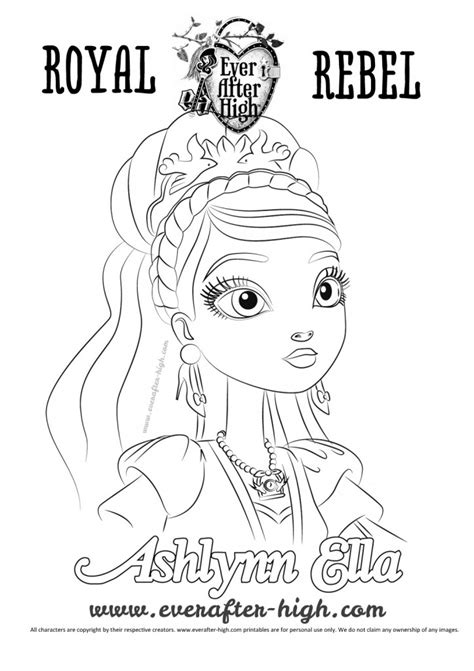 ever after high coloring pages ashlynn ella ashlynn ella face coloring page ever after high