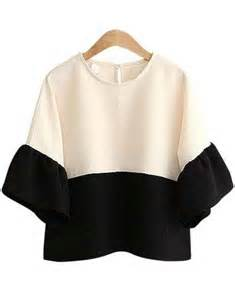 color block tops color block ruffle sleeve top abaday