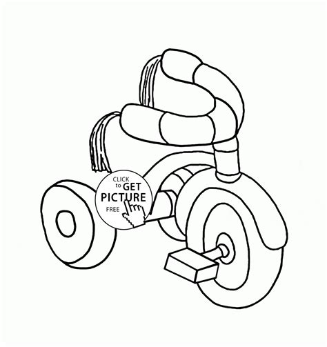 tricycle coloring pages preschool small tricycle coloring page for preschoolers