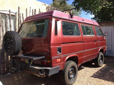 volkswagen westfalia 4x4 buy used 1987 vw vanagon syncro westfalia 4x4 full cer