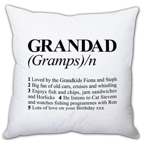define cusion personalised definition of grandad cushion find me a gift