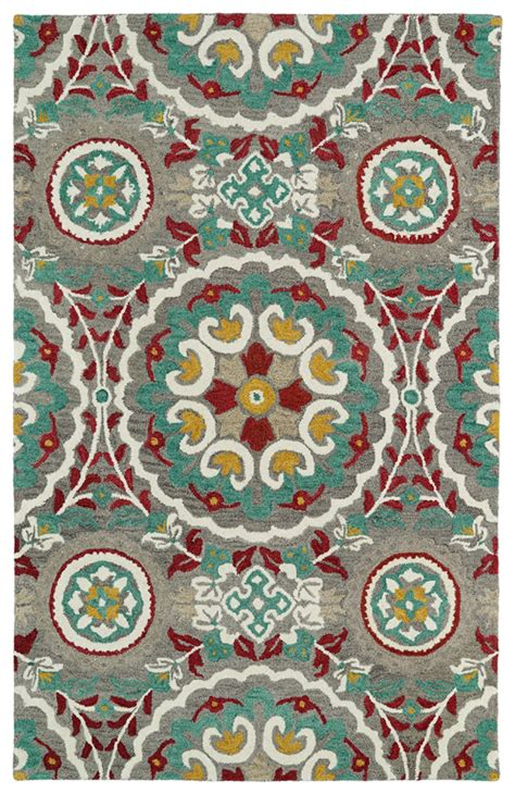 Turquoise And Grey Rug by Grey And Turquoise Global Inspirations Rug