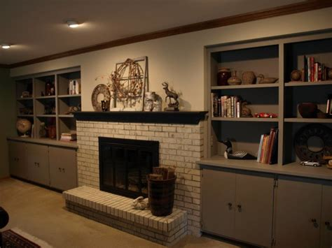 chalk paint fireplace chalk paint 174 brick fireplace and built ins traditional