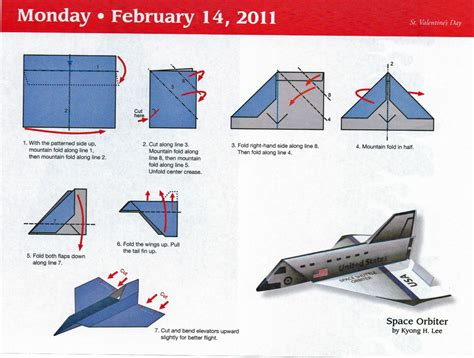 Steps For A Paper Airplane - space shuttle paper airplane steps pics about space