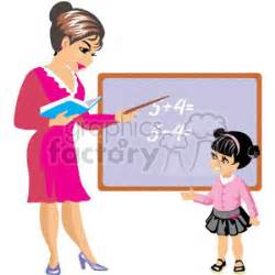 royalty free a teacher is teaching a student math 369320