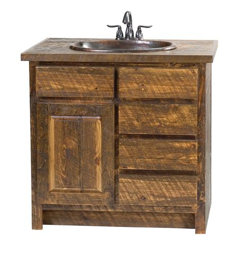 Wood Vanity by Barn Wood Bathroom Vanity