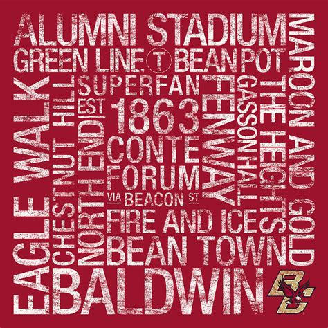 boston college colors boston college college colors subway photograph by