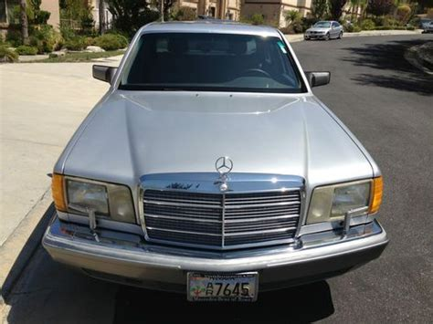 how to sell used cars 1991 mercedes benz sl class electronic toll collection sell used 1991 mercedes benz 560sel 560 sel clean title exlnt cond no reserve in
