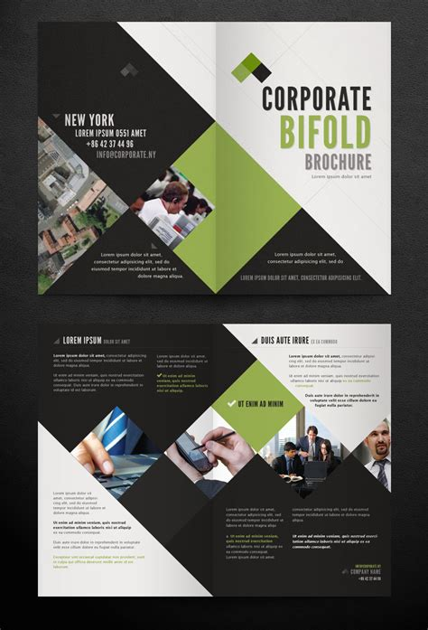corporate template free corporate bi fold brochure template by pixeden