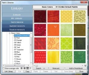 fabric pattern making software eq mini friday fun how to add fabrics to your library