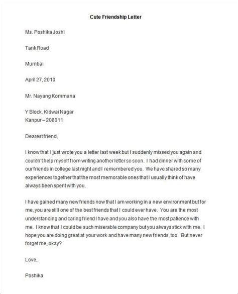 Business Introduction Letter To Friends friendly letter templates 44 free sle exle