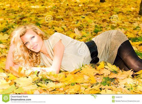 Topi Model Rusia russian top model in autumn park stock image image 16465131