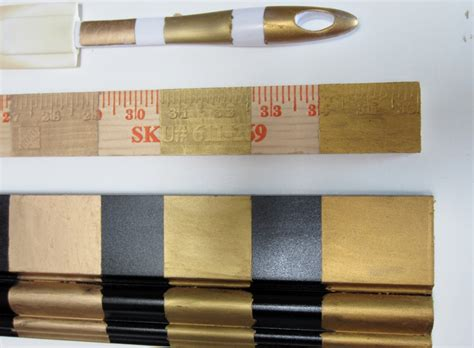 rub and buff colors three golds comparing rub n buff s gold finishes fig