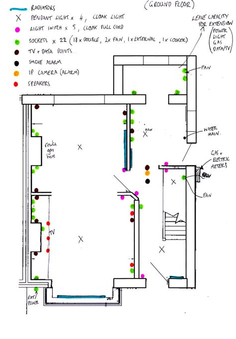 rewiring a house diagram house wiring layout pdf
