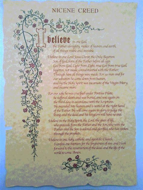printable version nicene creed sacco religious items