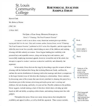 Exles Of Analysis Essay by Analysis Essay Template 7 Free Sles Exles Format Free Premium Templates