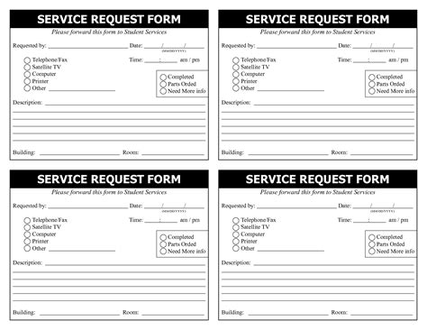 computer service request form template best photos of service form template word it service