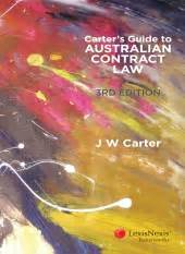 lexisnexis australia carters guide  australian contract law  edition professor jw