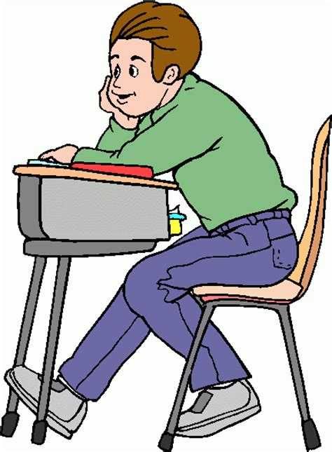 Student In Desk Clipart Clipart Best Students In Desks