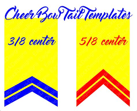 cheer bow template cheer bow tails svg dxf eps cut file for cameo and