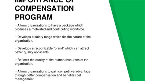 Compensation And Benefits Project For Mba by Compensation And Benefits