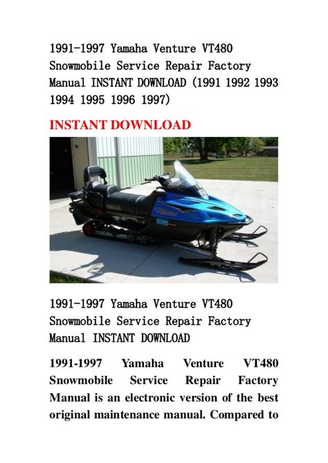 1997 venture all models service and repair manual tradebit snowmobile service and repair parts accessories autos post