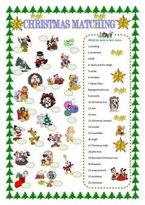 christmas matching with disney characters worksheet free