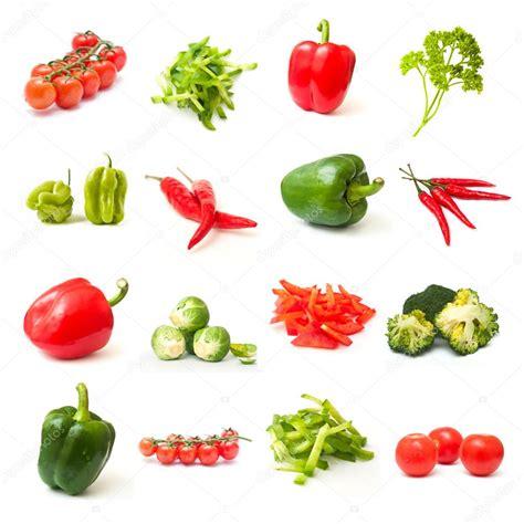 imagenes verdes y rojas collage de verduras verdes y rojas sobre fondo blanco