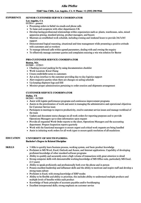 Conference Services Coordinator Resume by Client Servicing Resume Sle Resume Sles Types Of