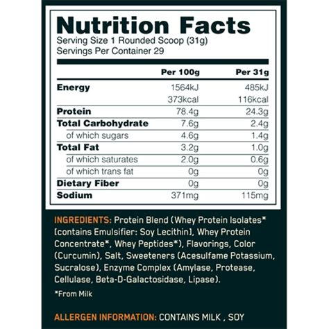 d protein nutrition facts optimum nutrition whey nutrition facts dandk