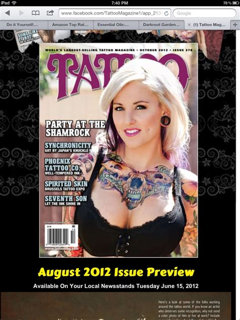 tattoo magazines corlew on mag cover ink