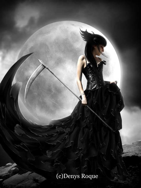 muerte a credito dama de la muerte by denysdigitalartwork on