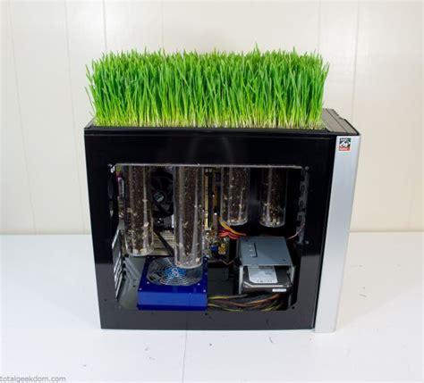 pc case diy diy bio computer with mini garden on top of its case